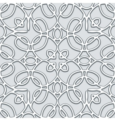 Grey lace pattern vector image