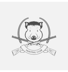 guns and hunting boar Club vector image