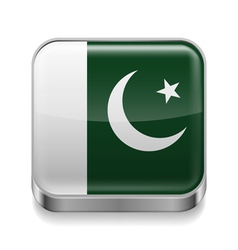 Metal icon of pakistan vector