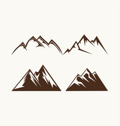 set of mountains for the logo vector image vector image
