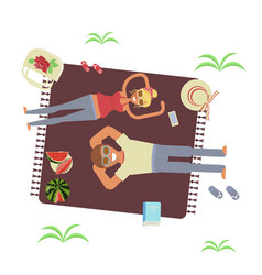 top view of a couple vector image
