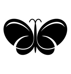 butterfly icon simple black style vector image