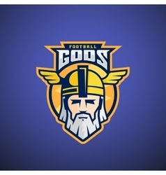 Football Gods Sport Team or League Logo vector image vector image