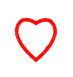 grunge red heart vector image vector image