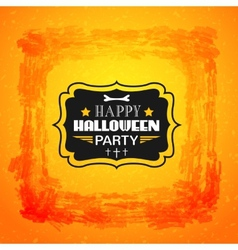 Happy Halloween card Typography letters font type vector image