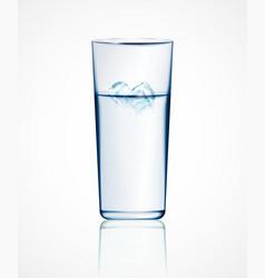 Ice water vector