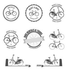 Set of rent a bike design elements vector image