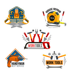 work tool for house repair isolated symbol set vector image