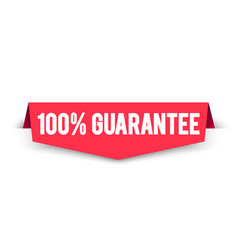 100 percent guarantee label web corner banner vector image