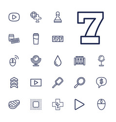 22 reflection icons vector