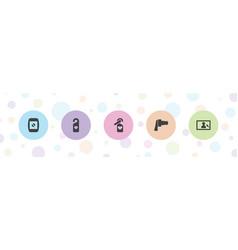 5 instagram icons vector