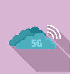 5g cloud technology icon flat style vector image