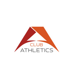 A letter icon for athletics club vector