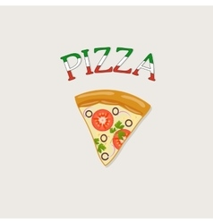 a piece of Italian pizza vector image