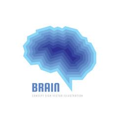 Abstract human brain - logo template vector