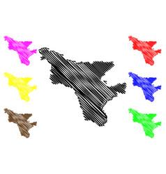 Amur oblast map vector