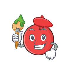 artist bowling ball character cartoon vector image