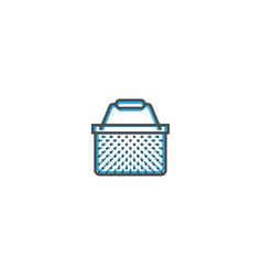 basket icon line design business icon vector image