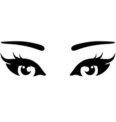 beautiful woman eyes icon vector image