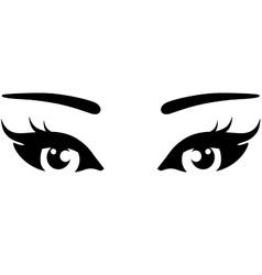 Beautiful woman eyes icon vector