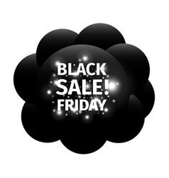 black friday banner in form of black balls cloud vector image
