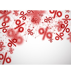 Blurred sale background vector image