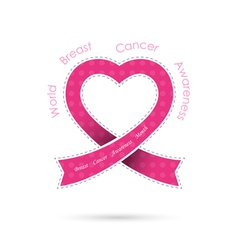 Breast cancer awareness logo design vector image