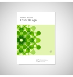Brochure with abstract figures Modern vector