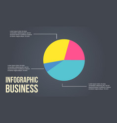 Business infographic diagram colorful design vector