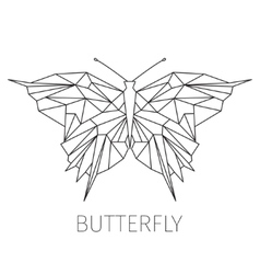 Butterfly The schematical image from geometrical vector