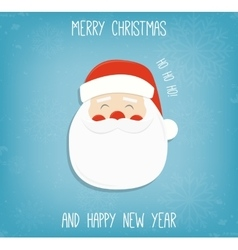 Christmas background with Santa Claus Merry vector image
