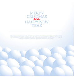 christmas background with snowballs and snow vector image
