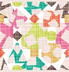 Cloth abstract print with geometric shapes vector