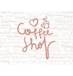 Coffee shop lettering vector image