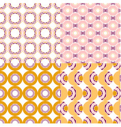 colored geometric seamless patterns with different vector image