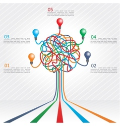 Concept of colorful tree for business design vector