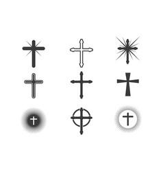 Cross icon design vector