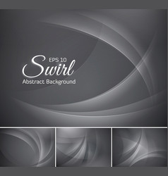 curvy abstract background grey vector image