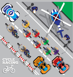 cyclists group at professional race vector image