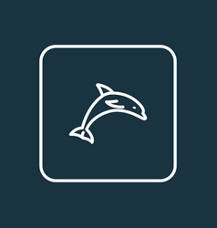 dolphin outline symbol premium quality isolated vector image