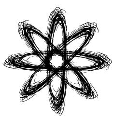 Doodle atom vector