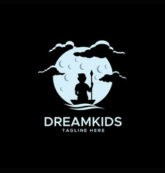dream kids logo vector image
