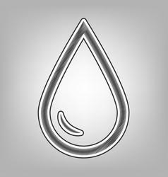 drop of water sign pencil sketch vector image