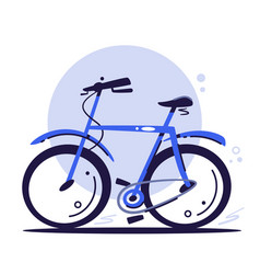 Eco transport concept blue bike riding bike vector