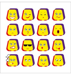 emotive smileys vector image