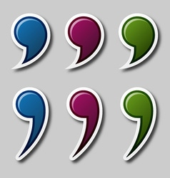 EPS10 color quotation marks vector