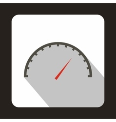 Factory speedometer icon flat style vector