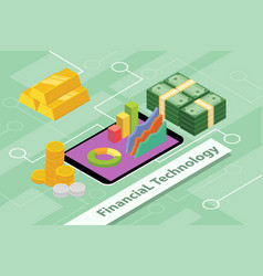 financial technology business concept vector image