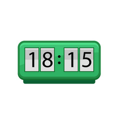 flat icon of green flip clock with big vector image