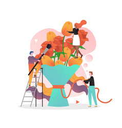 florist business concept for web banner vector image